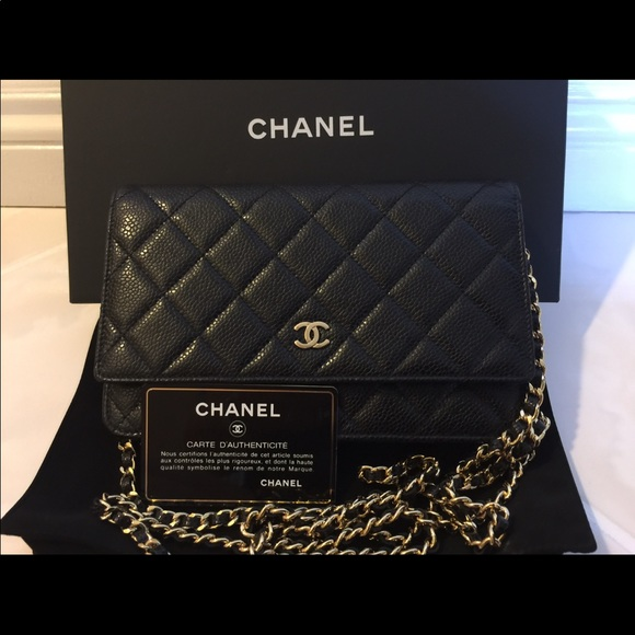 a07c5dbed0b5 CHANEL Other | New Caviar Black Woc Wallet On Chain | Poshmark